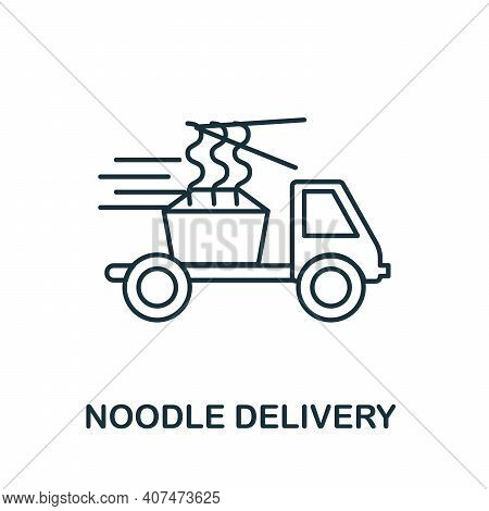 Noodle Delivery Icon. Simple Element From Delivery Collection. Creative Noodle Delivery Icon For Web