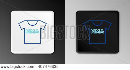 Line T-shirt With Fight Club Mma Icon Isolated On Grey Background. Mixed Martial Arts. Colorful Outl