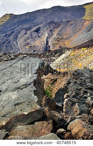 Top Of Etna, Volcano In Sicily