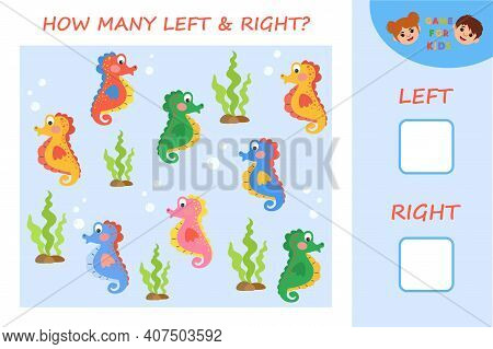 Game For Children. Sea Horse. Children Funny Riddle Entertainment And Amusement. Kid S Art Game And