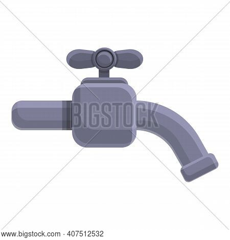 Sewerage Water Tap Icon. Cartoon Of Sewerage Water Tap Vector Icon For Web Design Isolated On White