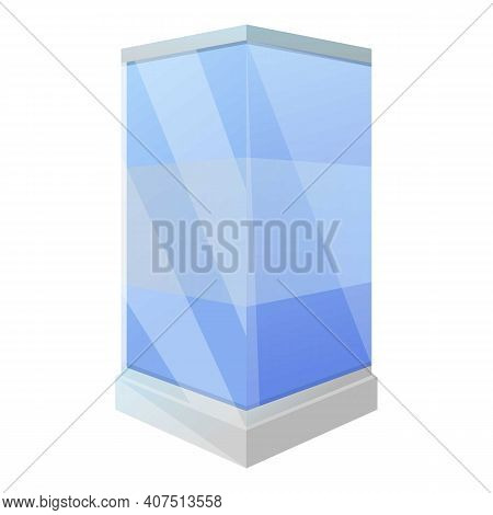 Shower Stall Corner Icon. Cartoon Of Shower Stall Corner Vector Icon For Web Design Isolated On Whit