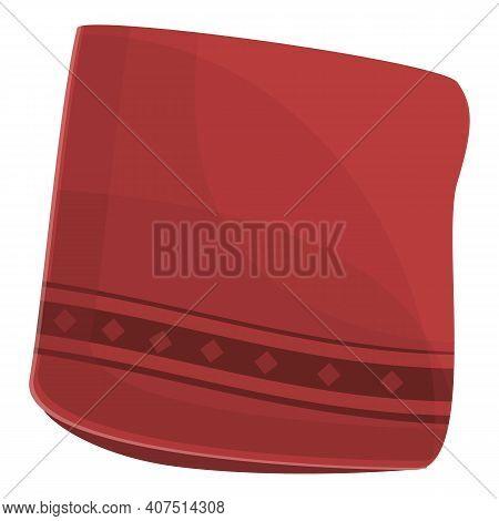 Red Handkerchief Icon. Cartoon Of Red Handkerchief Vector Icon For Web Design Isolated On White Back