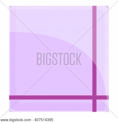 Square Handkerchief Icon. Cartoon Of Square Handkerchief Vector Icon For Web Design Isolated On Whit