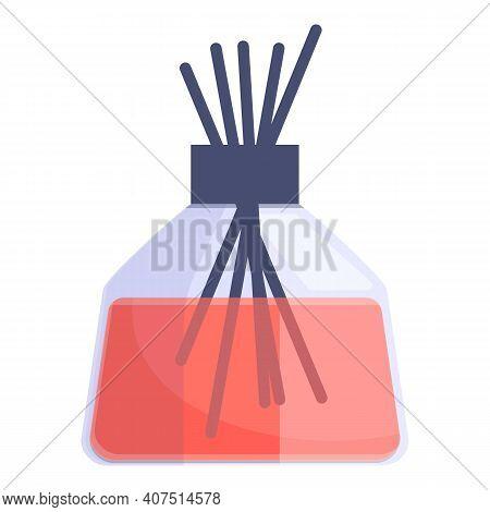 Air Freshener Red Sticks Icon. Cartoon Of Air Freshener Red Sticks Vector Icon For Web Design Isolat