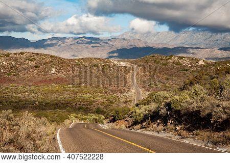 Highway To Sierra De San Pedro Martir National Park, Baja Calilfornia, Mexico