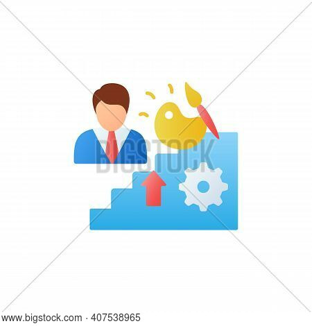 Talents Development Flat Icon. Personal Growth Concept. Self Improvement And Talent Acquisition.pers