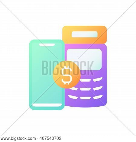 Pay Service Vector Flat Color Icon. Medical Billing. Fee For Service. Paying With Cash, Credit Card.