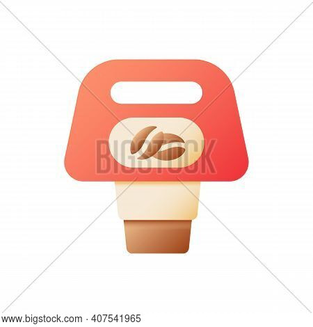 Coffee To Go Vector Flat Color Icon. Hot Tea In Cups, Carton Package For Drinks To Go. Take Away Ord
