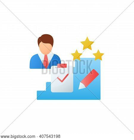 Personal Assessment Flat Icon.personal Growth Concept. Self Improvement And Self Realization. Busine