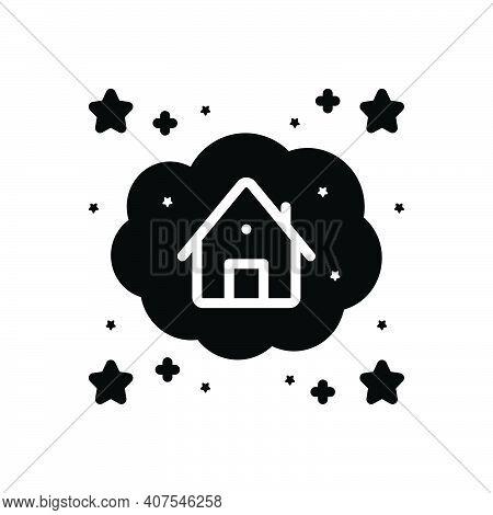 Black Solid Icon For Dream Fantasy Hallucination Imagination Creativity Desire Wish