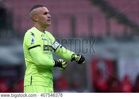 Milano, Italy. 07th February . Alex Cordaz Of Fc Crotone  During The Serie A Match Between Ac Milan