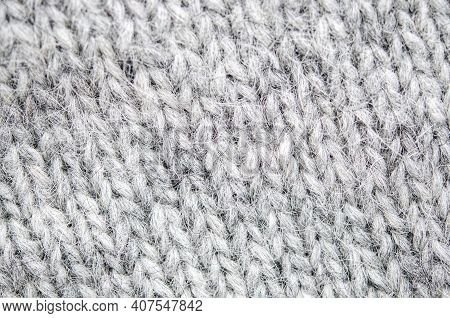 A Cozy Wool Background. Background Of Large Wool Viscous Close-up