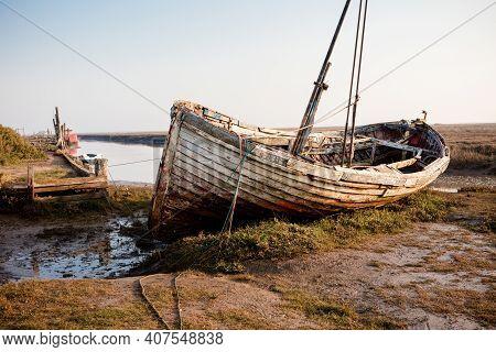 Old Boat At Thornham Old Harbour, Norfolk, England