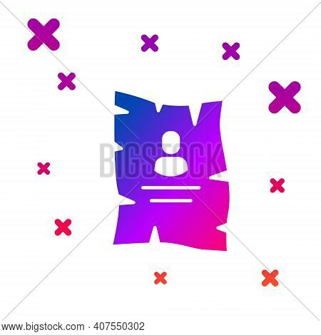 Color Wanted Western Poster Icon Isolated On White Background. Reward Money. Dead Or Alive Crime Out