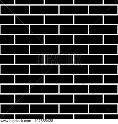 Seamless Brickwall Pattern. Bricks Cladding Wall. Walling Wallpaper. Geometric Ornament. Grid Backgr