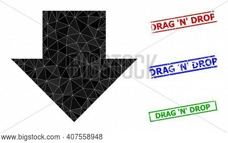 Triangle Download Arrow Polygonal Symbol Illustration, And Rubber Simple Drag N Drop Stamp Seals. Do