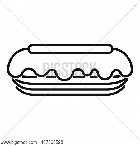 Eclair Icon. Outline Eclair Vector Icon For Web Design Isolated On White Background