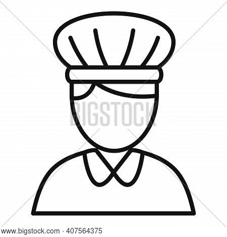 Confectioner Woman Icon. Outline Confectioner Woman Vector Icon For Web Design Isolated On White Bac