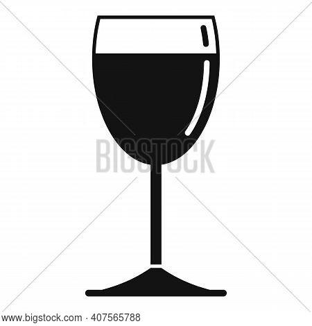 Tasting Wine Glass Icon. Simple Illustration Of Tasting Wine Glass Vector Icon For Web Design Isolat