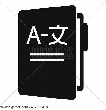 Folder Translator Icon. Simple Illustration Of Folder Translator Vector Icon For Web Design Isolated
