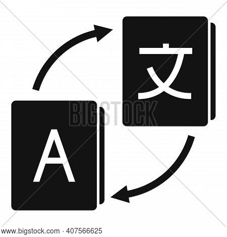 Foreign Translator Icon. Simple Illustration Of Foreign Translator Vector Icon For Web Design Isolat