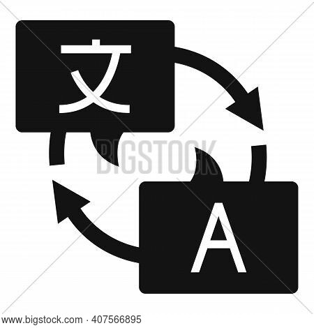 Online Translator Icon. Simple Illustration Of Online Translator Vector Icon For Web Design Isolated