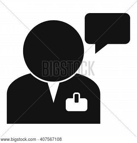 Man Translator Icon. Simple Illustration Of Man Translator Vector Icon For Web Design Isolated On Wh