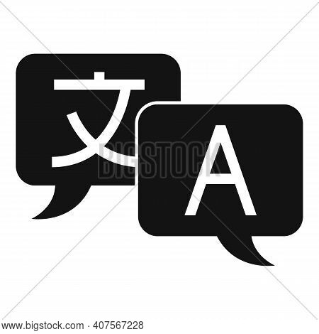 Translator Chat Icon. Simple Illustration Of Translator Chat Vector Icon For Web Design Isolated On