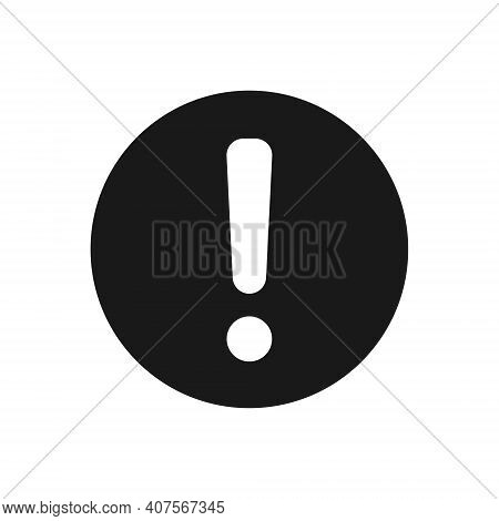 Exclamation Mark Vector Icon. Warning And Caution Round Sign. Danger And Error Logo Symbol. Applicat