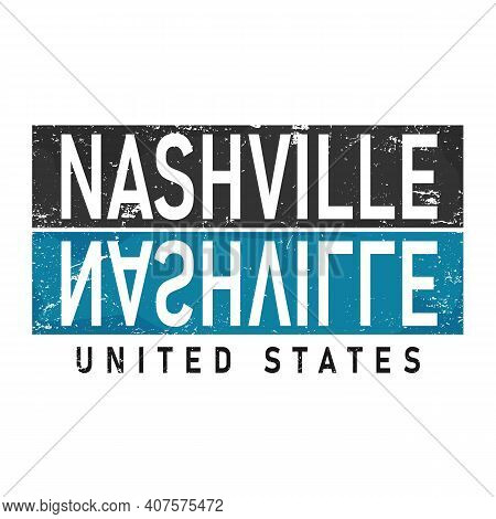 Nashville Cool T-shirt Design Vector Illustration On White
