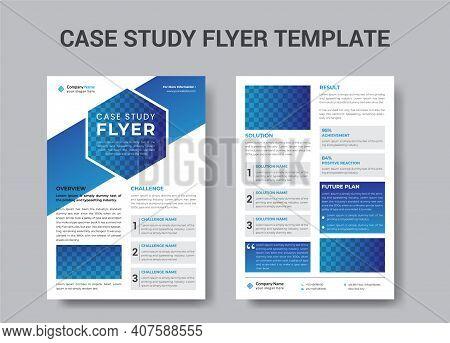 Case Study Flyer Design, Corporate Business Flyer Template