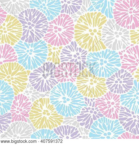 Multi Colored Allover Easter Floral Repeat Pattern