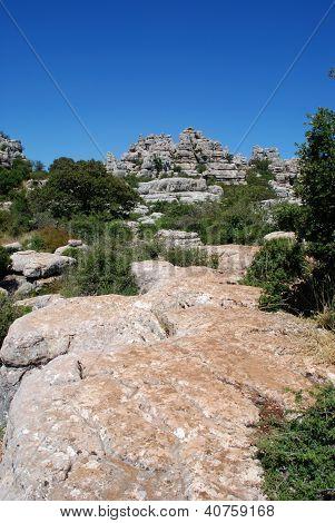 Karst Landscape, El Torcal National Park, Spain.