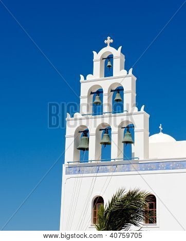 White bell tower.