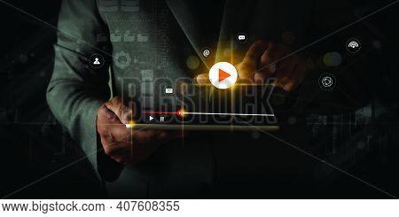 Video Marketing Social Video Audio , Market Interactive Channels , Business Advert Technology Innova
