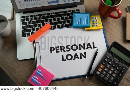 Personal Loan Man Hand Tablet Technology  Internet And Network To Personal Loan