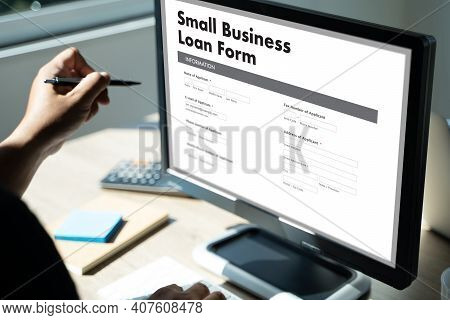 Small Business Loan Form Tax Man Work Application Form Loan