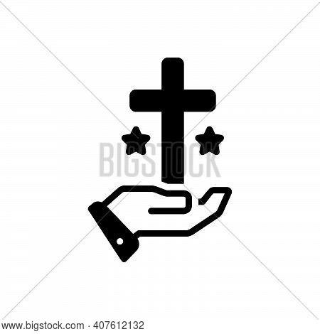 Black Solid Icon For Truth Veracity Reality Faith Religion Church
