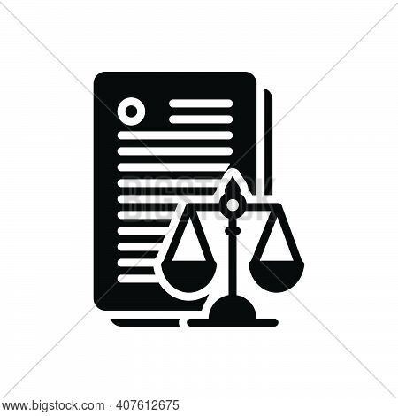 Black Solid Icon For Laws Enactment Law-and-order Politics Justice Balance Verdict
