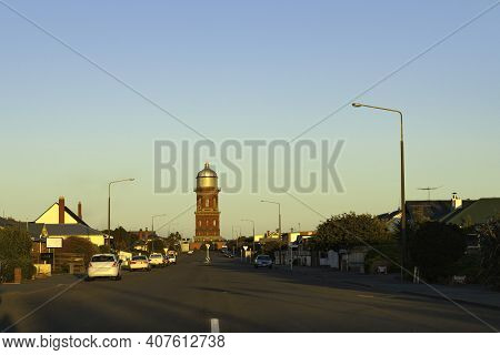 Invercargill Water Tower aesthetic utility red brick tower building built in 1889.
