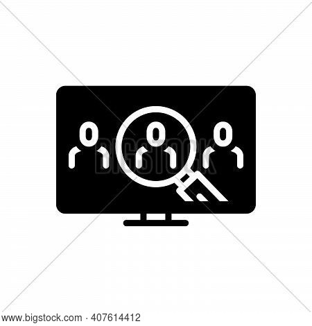 Black Solid Icon For Identifies Recognize Discover Detect Analyze Spot User