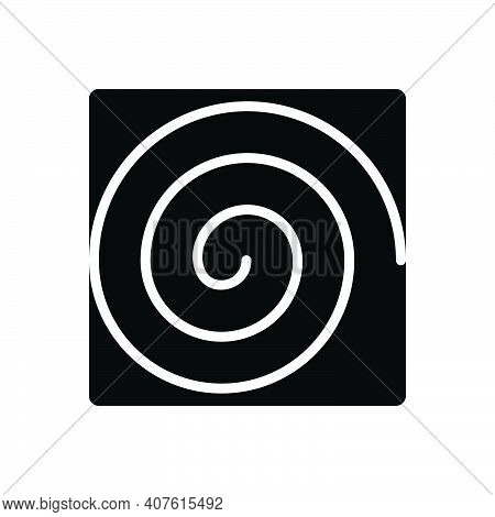 Black Solid Icon For Hurricane Vortex Cyclone Storm Typhoon Meteorology Maelstrom Catastrophe