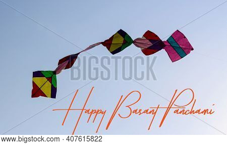 Happy Basant Panchami Colourful Kites In The Sky