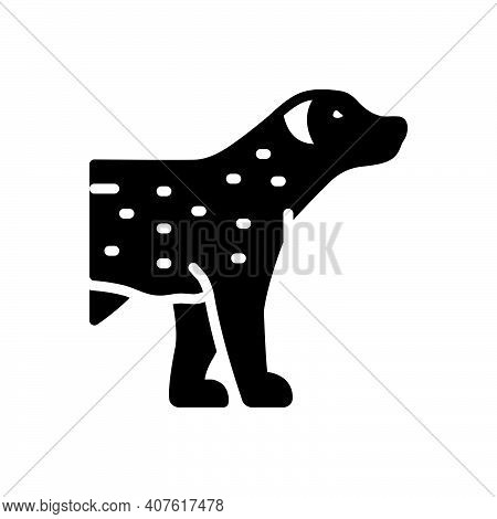 Black Solid Icon For Pet Tame Faithful Dog Domestic Animal Cherished Endearing
