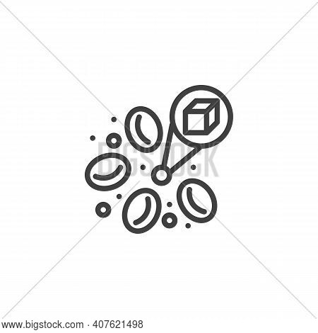 Blood Sugar Glucose Line Icon. Linear Style Sign For Mobile Concept And Web Design. Diabetes Blood S