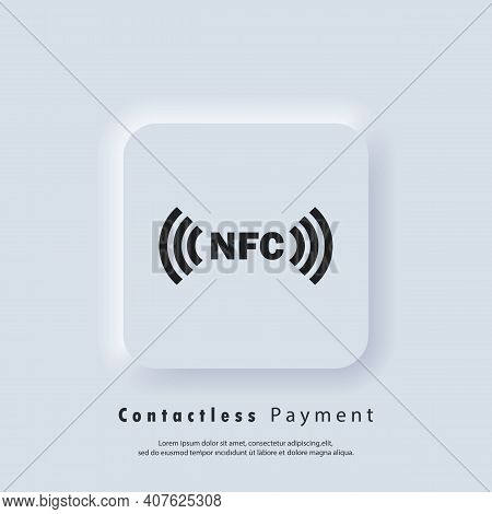 Contactless Payment Icon. Nfc Icon. Wireless Payment. Contactless Cashless Society Icon. Vector Eps