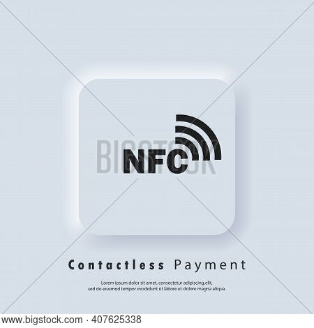 Nfc Icons. Contactless Payment Icon. Wireless Payment. Contactless Cashless Society Icon. Vector Eps