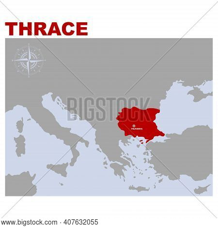 Vector Map Of The Geographical And Historical Region Thrace For Your Project