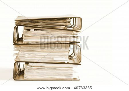 High Stack Of Folders
